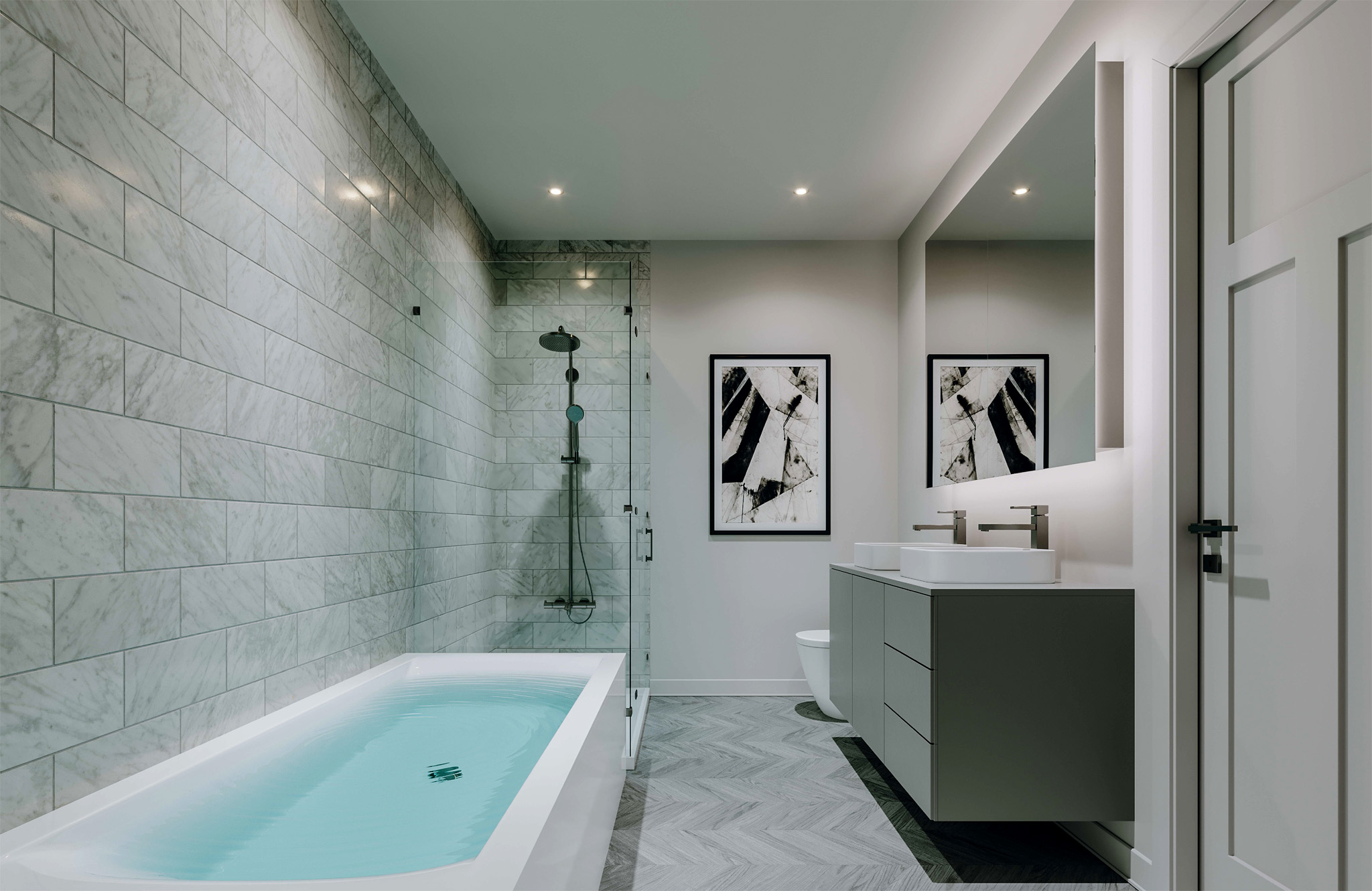 Salle de bain de rêve – Projet Le Panoramique Sainte-Adèle